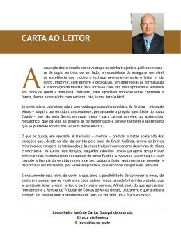 CARTA AO LEITOR - Revista do TCE