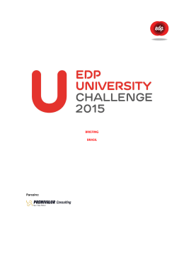 BRIEFING – EDP UNIVERSITY CHALLENGE 2014