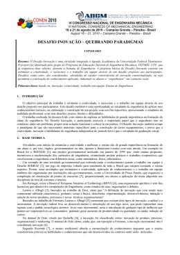 Artigo CONEM 2010 - DESAFIO - Universidade Federal Fluminense