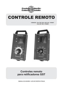 GST 250 / 425 / 850 (controle remoto)