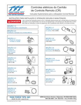 Controles elétricos do Canhão de Controle Remoto (CR)