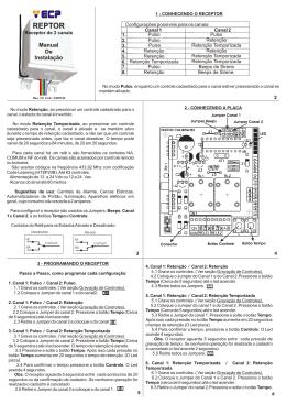 Manual Reptor 433MHz 2 Canais