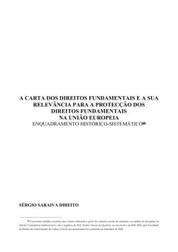 A Carta dos Direitos Fundamentais e a sua relevância para a