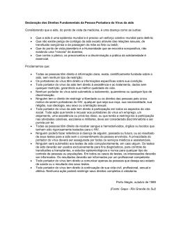 Declaração dos Direitos Fundamentais da Pessoa Portadora do