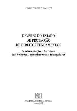 deveres do estado de protecção de direitos fundamentais