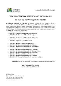 Edital de Convocação 005/2015