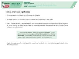 Sociologia - Capítulo 03