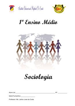 Apostila de Sociologia - Professor Lairton - 1°s