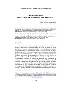 Cultura e Relações Sociais na Alta Idade Média Ibérica