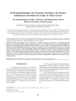 Perfil Epidemiológico dos Pacientes Portadores de Doença