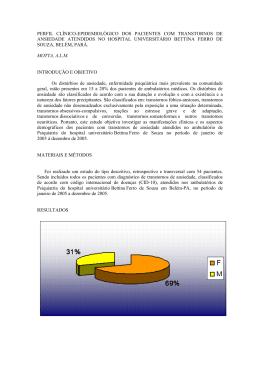 perfil clínico-epidemiológico dos pacientes com transtornos de