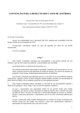 Convenção para a Redução dos Casos de Apatridia de 1961