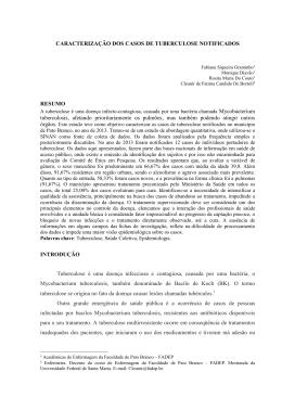 CARACTERIZAÇÃO DOS CASOS DE TUBERCULOSE