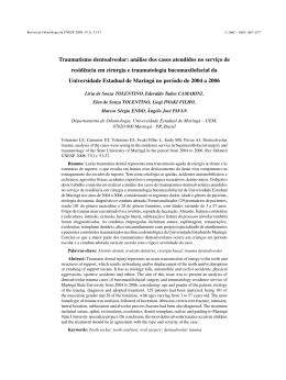 Traumatismo dentoalveolar: análise dos casos atendidos no serviço