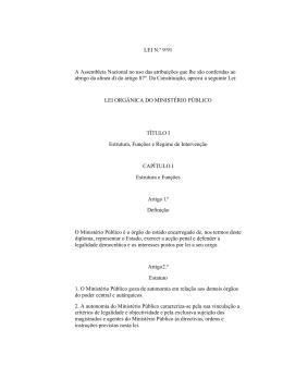 Lei Orgânica do Ministério Público