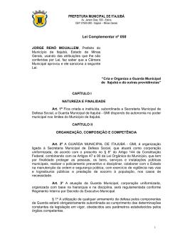 Lei Complementar Nº050 - Prefeitura Municipal de Itajubá