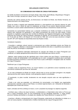 DECLARAÇÃO CONSTITUTIVA DA COMUNIDADE DOS PAÍSES
