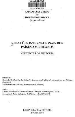 RELAÇÕES INTERNACIONAIS DOS PAÍSES AMERICANOS