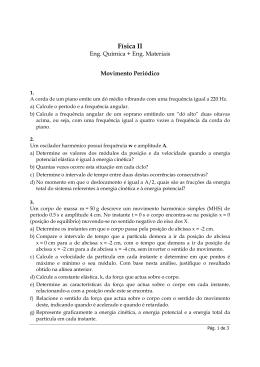 Física II 2006 - Pb1 - Movimento Periódico