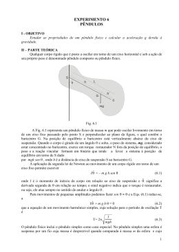 EXP 6_Pendulos - Instituto de Física da UFBA