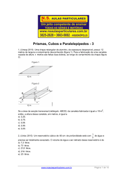 Geometria Espacial – Prismas 3