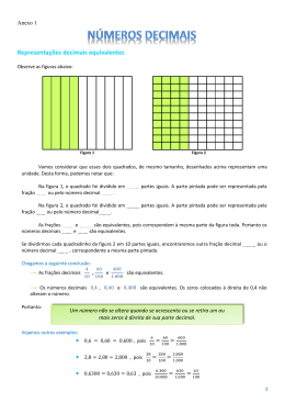 Representações decimais equivalentes