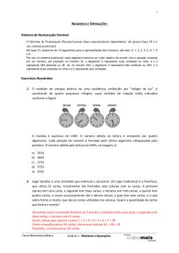 Sistema de Numeração Decimal Exercícios Resolvidos