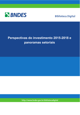 Perspectivas do investimento 2015-2018 e panoramas