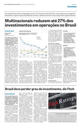 Multinacionais reduzem até 27% dos investimentos em operações