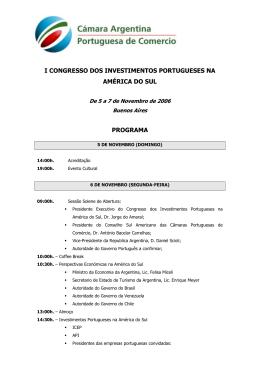 i congresso dos investimentos portugueses na américa do sul