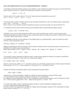lista de exercícios de cálculo estequiométricos – química c
