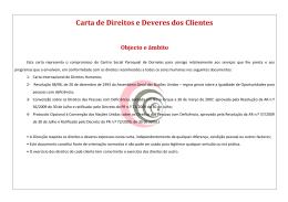 Carta de Direitos e Deveres dos Clientes