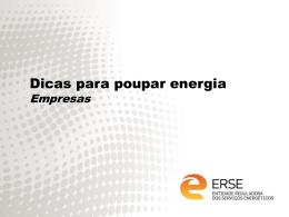 Dicas para poupar energia - Empresas