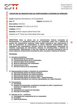 Programa, método de avaliação e bibliografia