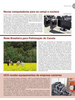 Novos computadores para os campi e núcleos UCS recebe