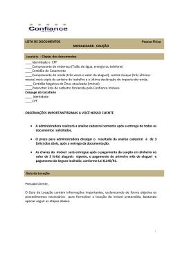 lista de documentos pessoa fisica