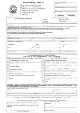 Formulário de Requerimento