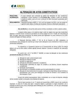 ALTERAÇÃO DE ATOS CONSTITUTIVOS