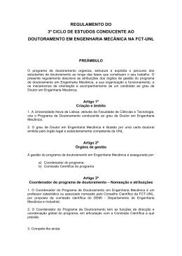 regulamento do 3º ciclo de estudos conducente ao doutoramento