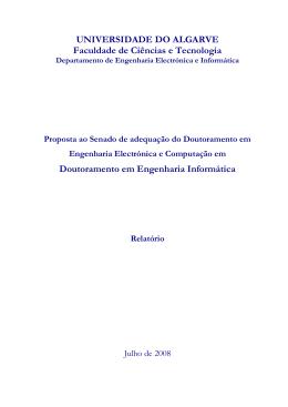 Proposta do Programa de Doutoramento em Engenharia Informática