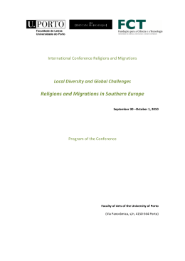 Religions and Migration Religions and Migrations in Southern