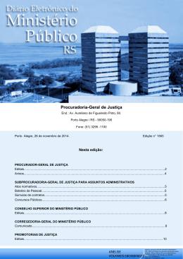 Resultado e Nominata Definitivos da Prova - Ministério Público