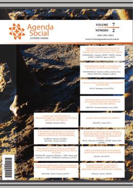 VOLUME NÚMERO - Revista Agenda Social