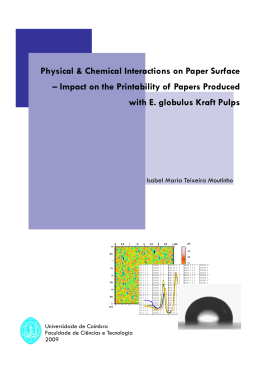Physical & Chemical Interactions on Paper Surface – Impact on the