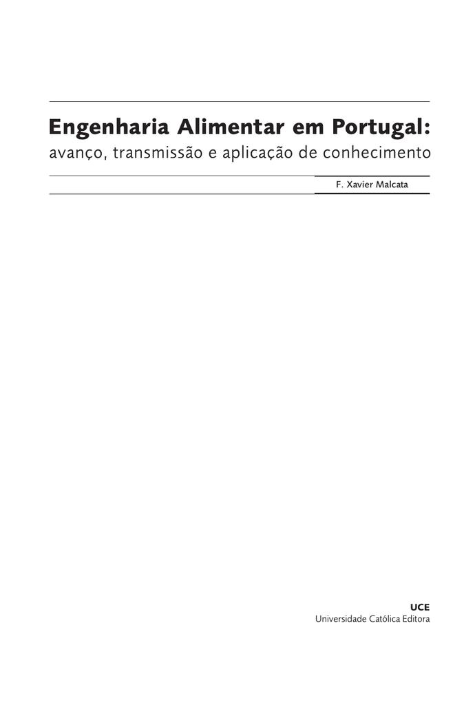 Engenharia Alimentar em Portugal: