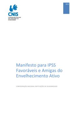 Manifesto para IPSS Favoráveis e Amigas do Envelhecimento