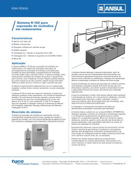 Sistema R-102 para supressão de incêndios em restaurantes