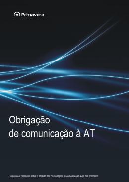 Obrigação de comunicação à AT