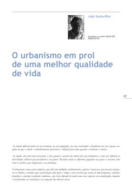 O urbanismo em prol de uma melhor qualidade de vida