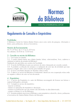 Regulamento - Faculdade Batista